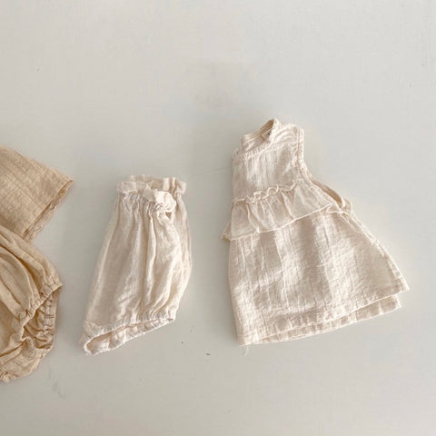 Sunshine Ruffle Set, Cream (6-12m)