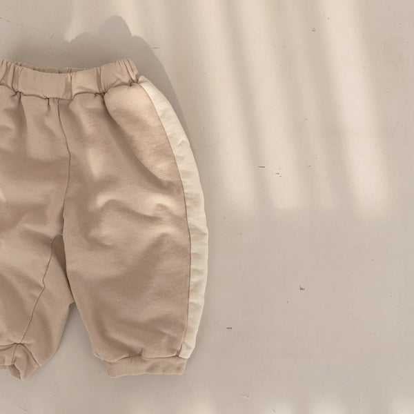Line Sweatpants, Light Beige