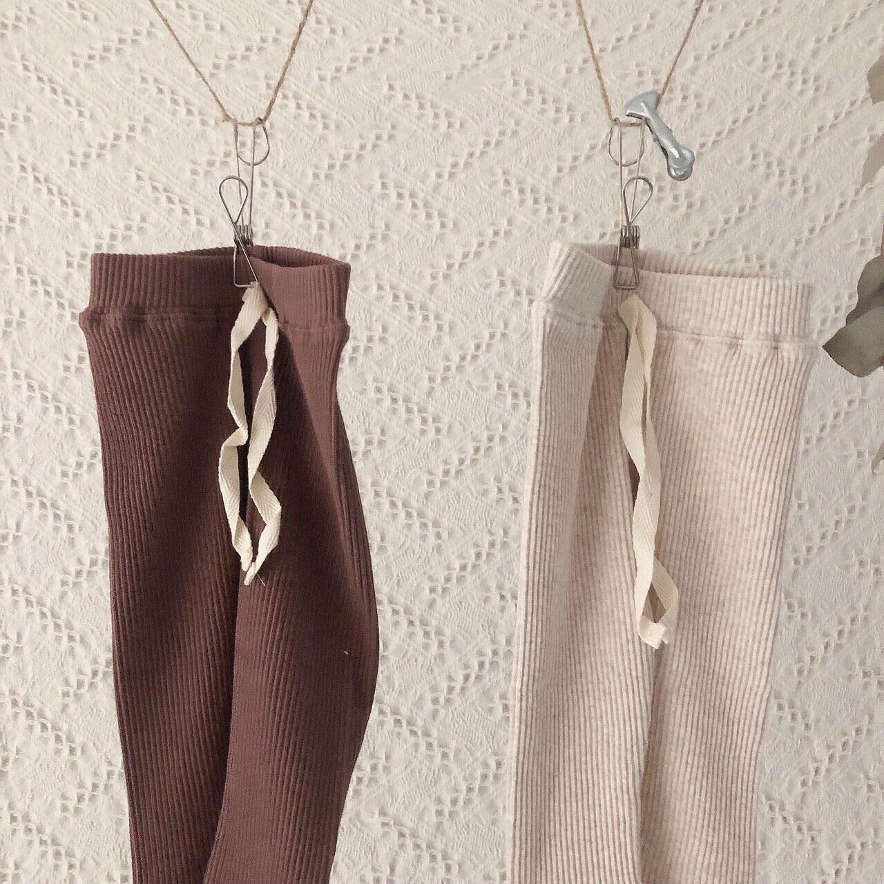 Ribbed Tie Leggings, 2 Colours