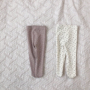 Snowflake Foot Leggings, Dusty Pink