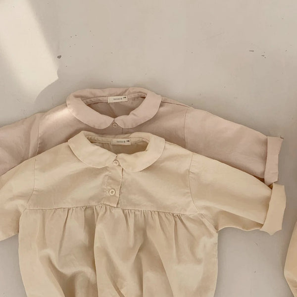 BB Round Collar Romper, Cream