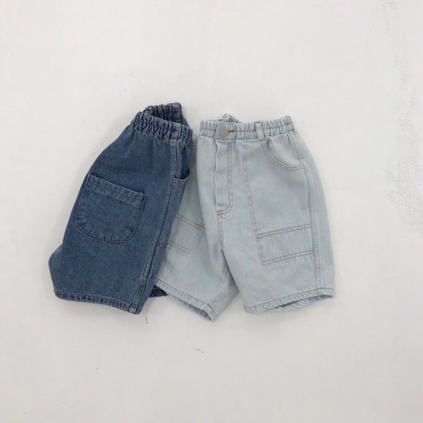 One Denim Shorts, Light Wash (18-24M)