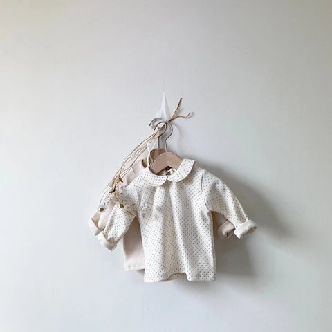 Peter Pan Collar Top (Cream, 4-5y)