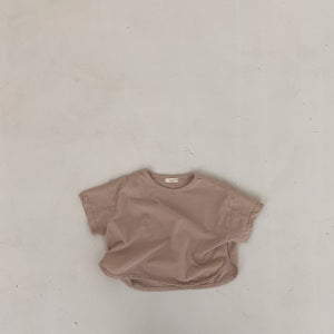 BB Easy Wide Tee, Warm Beige