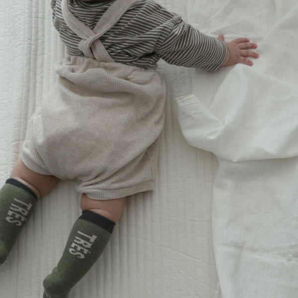 Baby Waffle Knit Bloomers, Dark Taupe