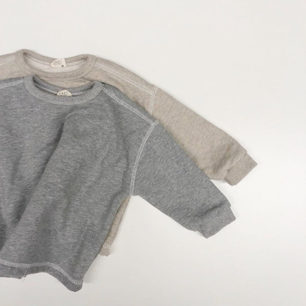 Simple Relaxed Sweatshirt, Oatmeal