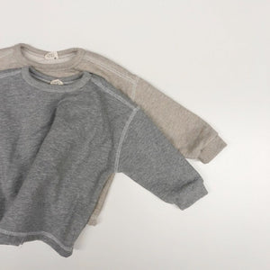 Simple Relaxed Sweatshirt, Grey