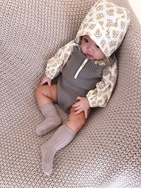 MB Cozy Knit Romper, Grey