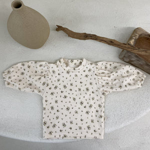 Flower Balloon Top, Ivory