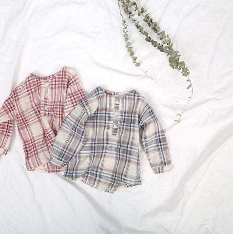 Spring Plaid Shirt, Pink