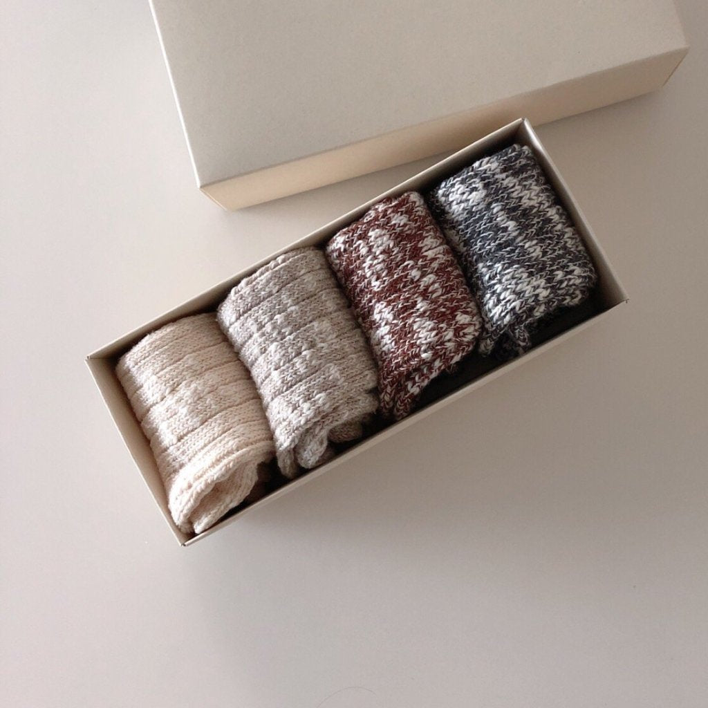 Winter Long Socks Set (Set of 4)