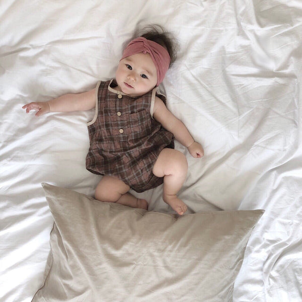 Square Natural Romper, Brown