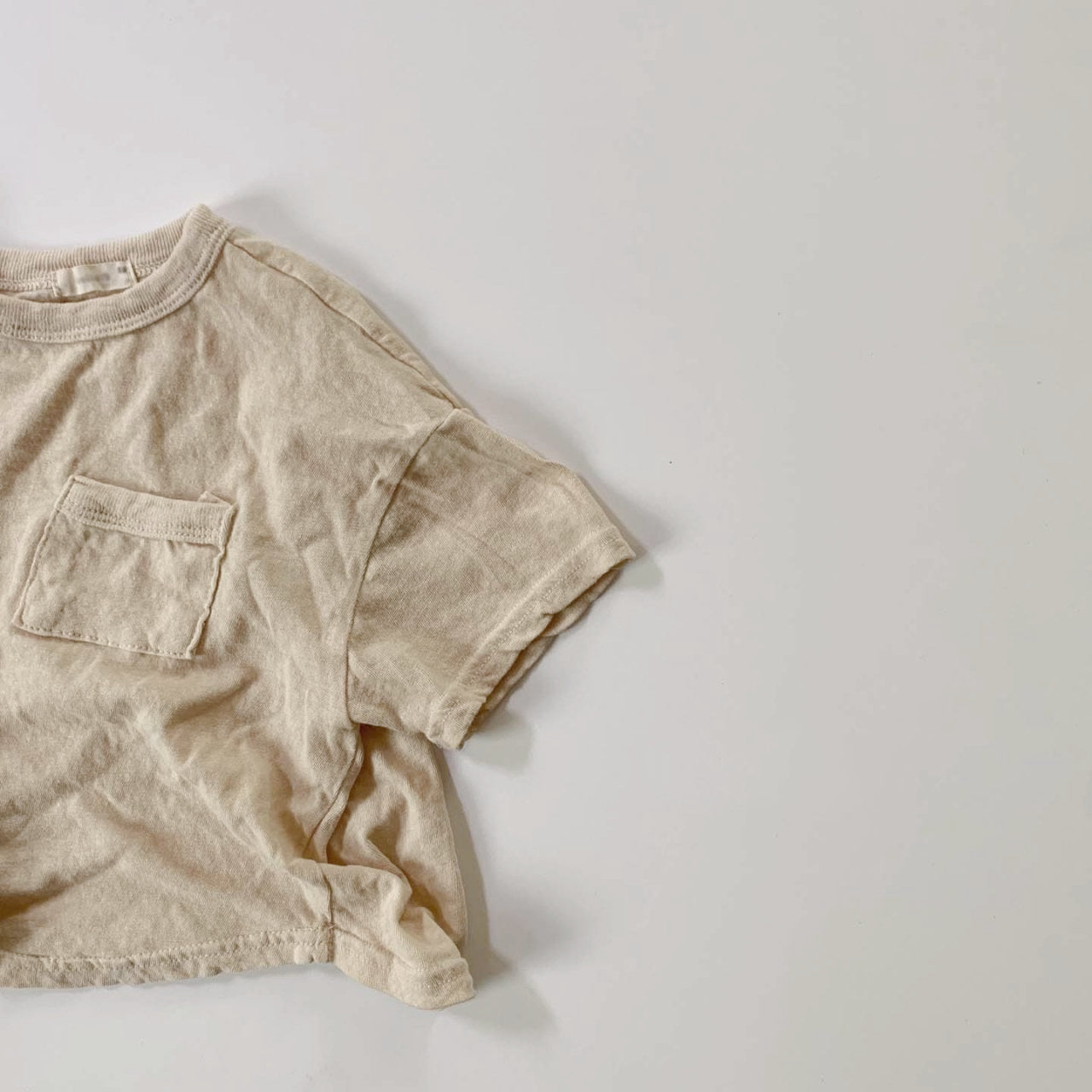 Romi Soft Tee, Light Beige (5-6y)