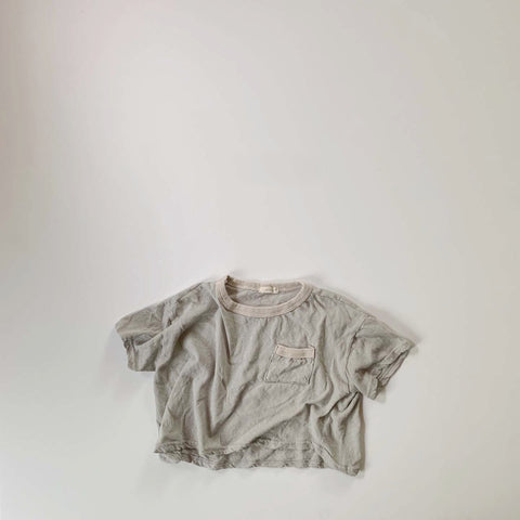 Romi Soft Tee, Light Sky Grey
