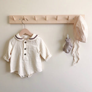 Sailor Bebe Romper, Cream