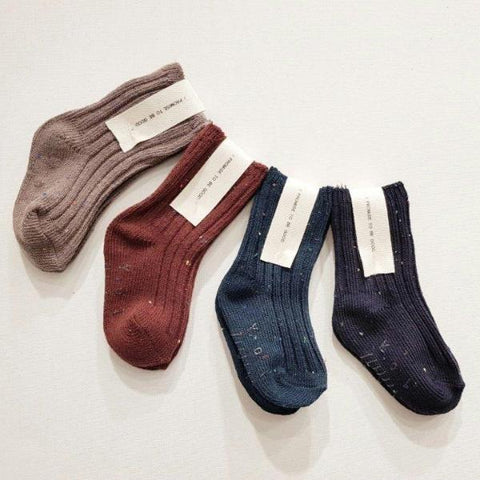 Speckled Cozy Socks A Set (set of 4)