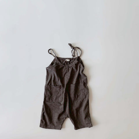 Slub Pocket Overalls, Charcoal