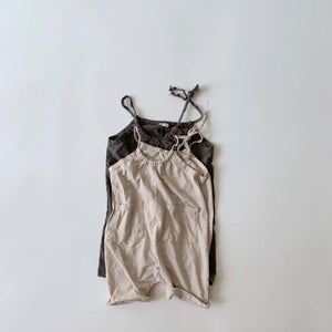 Slub Pocket Overalls, Light Beige