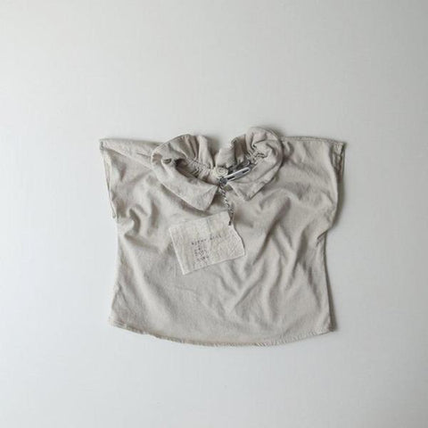 Reversible Collar Top, Light Beige