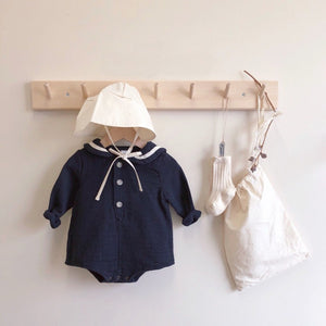 Sailor Bebe Romper, Navy