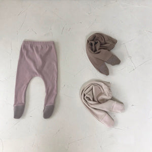 Ribbed Toe Footed Leggings, 3 Colours