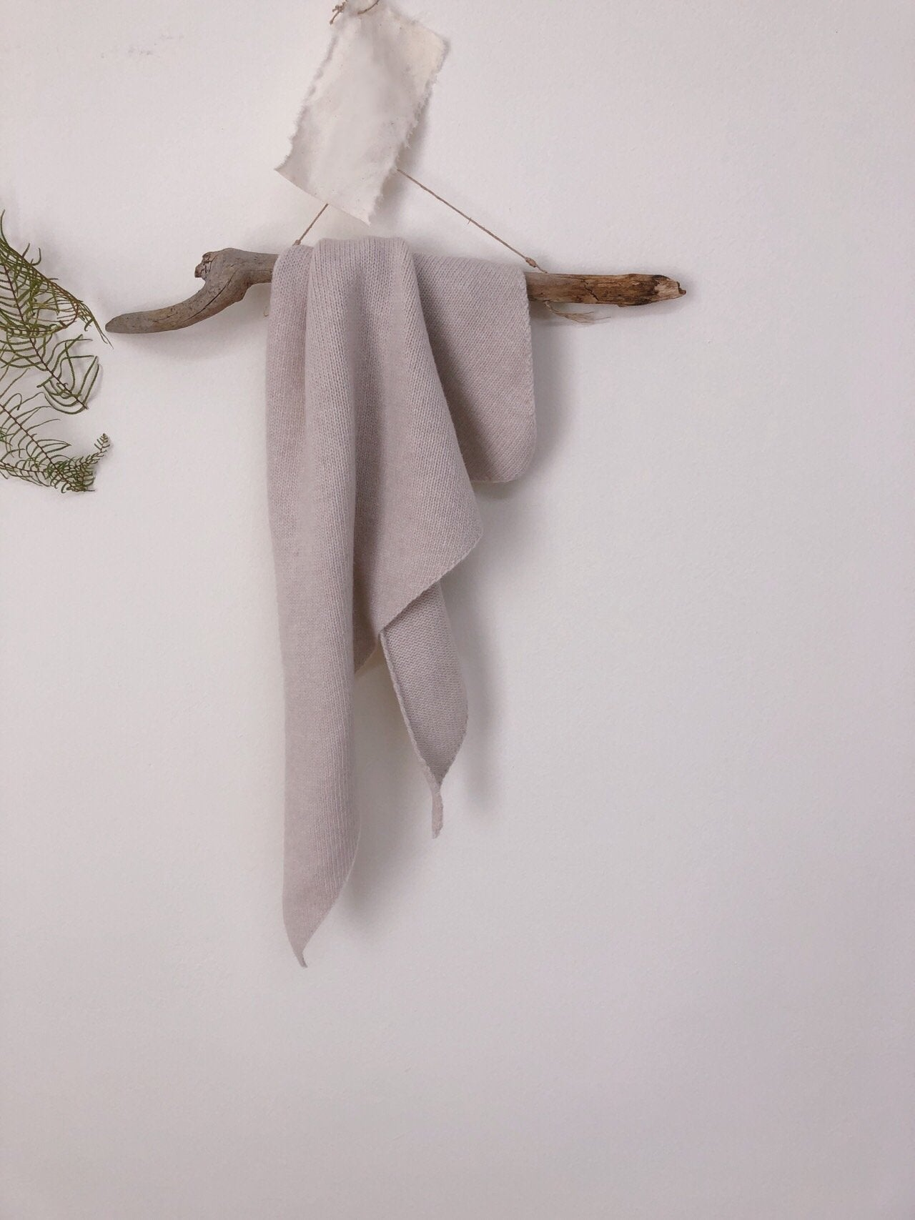 Cashmere Knit Scarf, 4 Colours