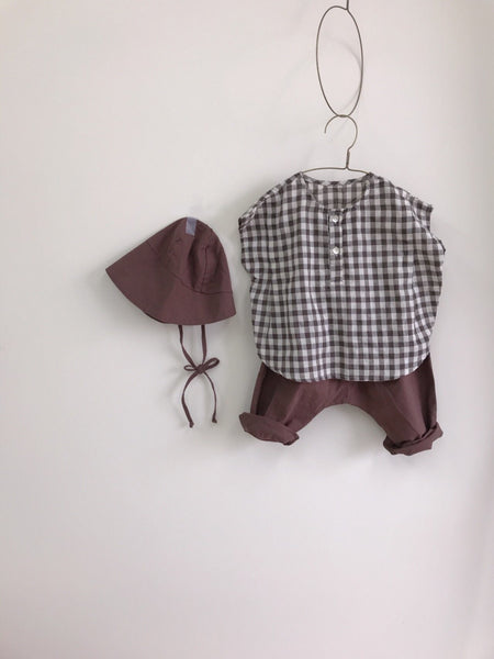 Square Summer Blouse, Brown