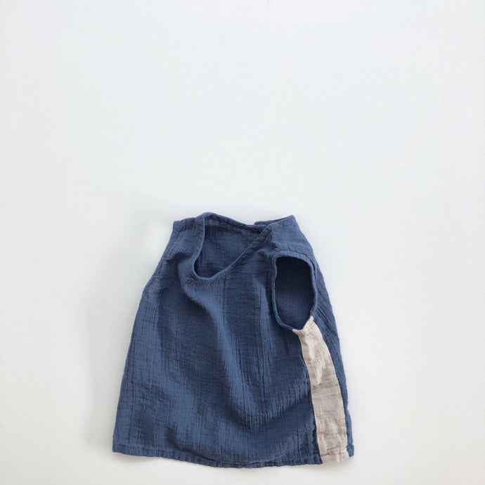 Two Tone Tanktop Blouse, Blue