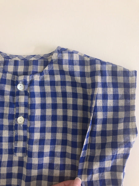 Square Summer Blouse, Blue