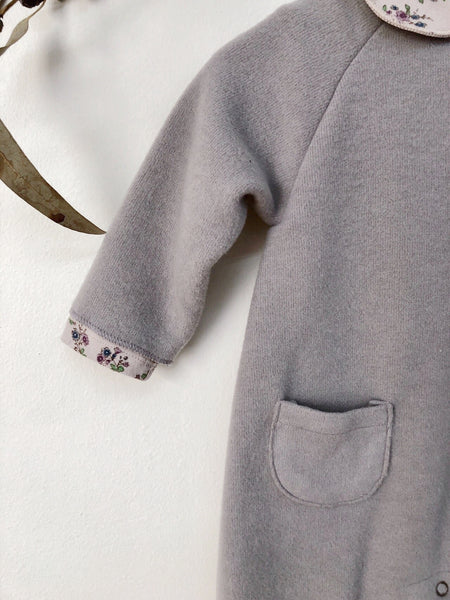 Cozy Fleece Pocket Jumpsuit, Light Grey