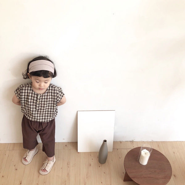 Spring Linen Pants, Brown (1-2Y)