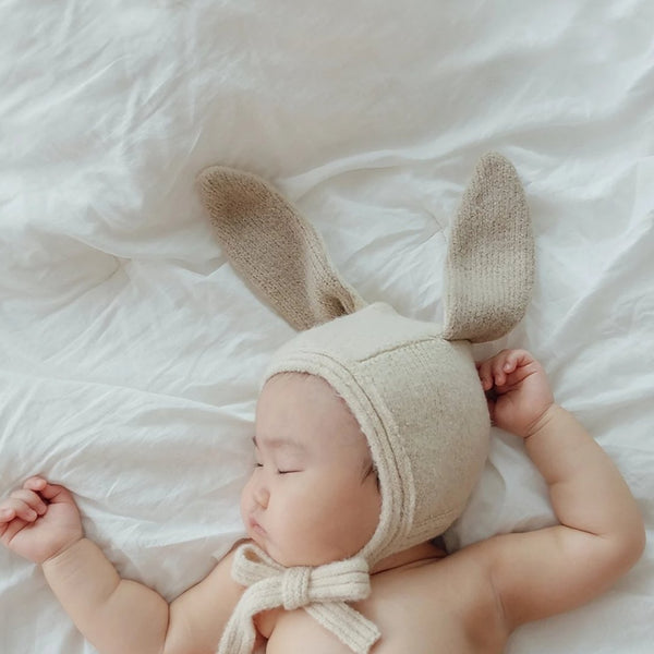 Bunny Knit Bonnet, 2 colours