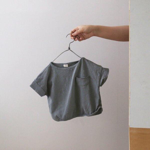 Vintage Wash Pocket Top, Blue Gray (3-5y)