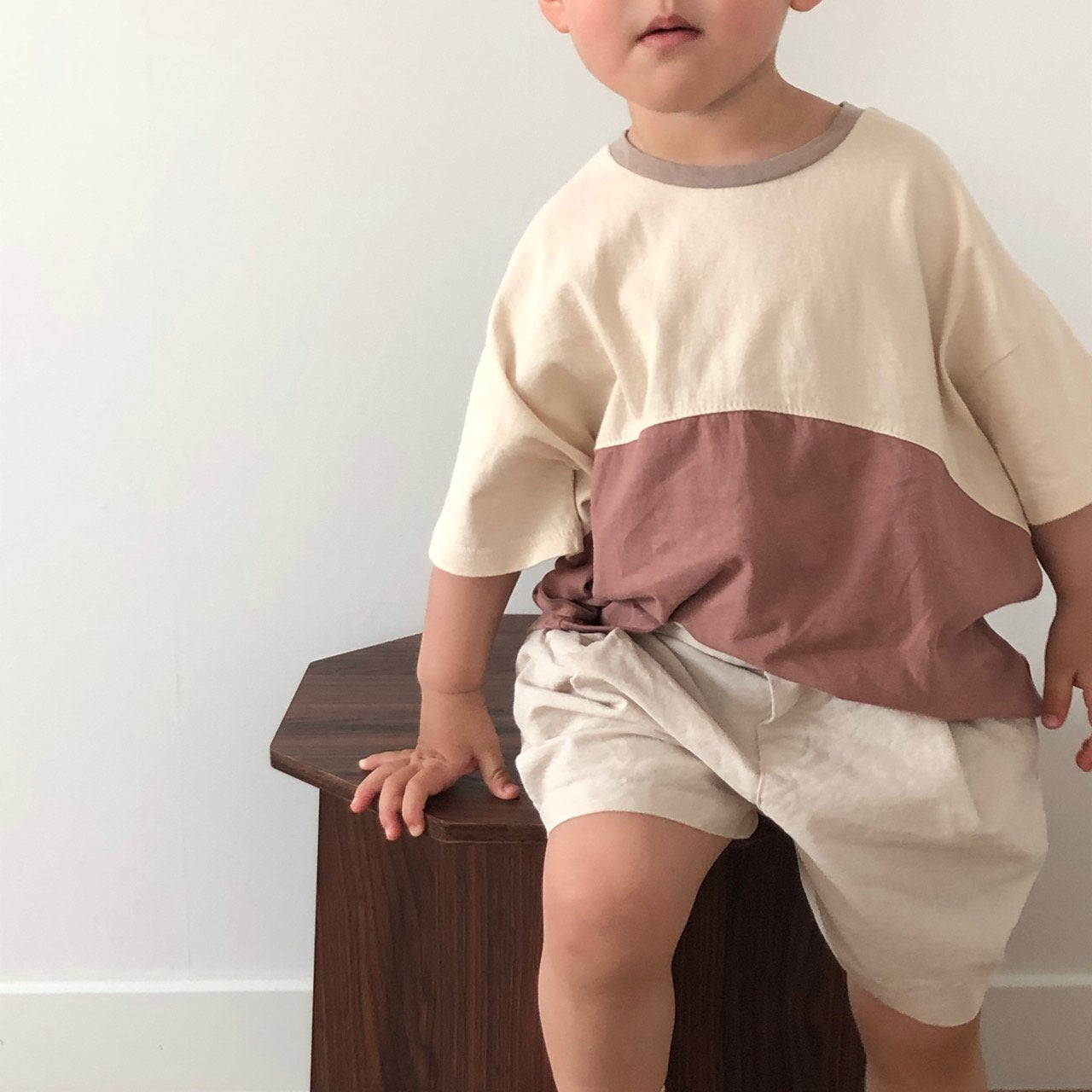Round Colour Tee, Brown