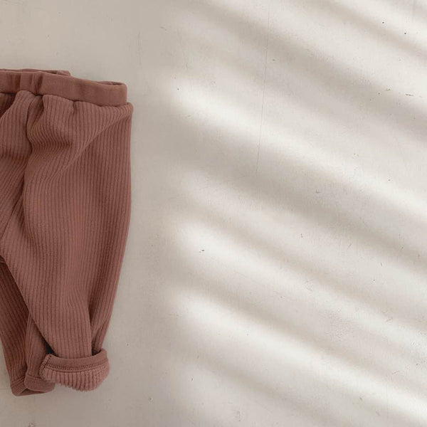 BB Rib Fleece Legging Pants, Brick