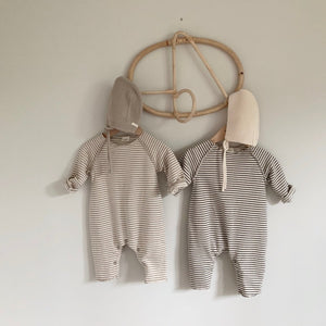 Stripe Long Sleeve Jumpsuit, 2 Colours