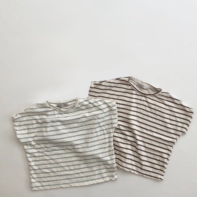 Striped Melange Tee, Mint