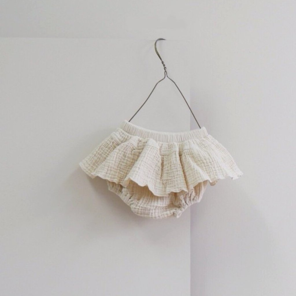 Cancan Bloomer Skirt, Cream (12-24m)