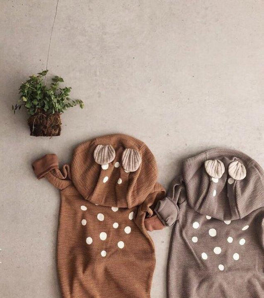 Soft Bambi Romper, Brown (6-12M)