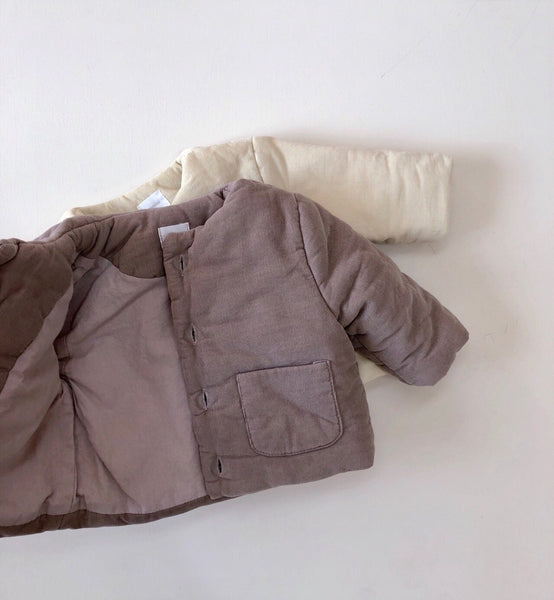Soft Corduroy Jacket, Light Beige