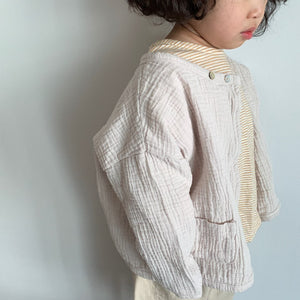 Wrap Simple Cardigan, Light Beige