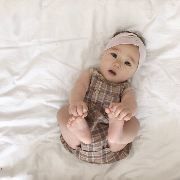 Square Natural Romper, Beige