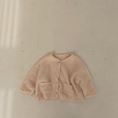 Muslin Daily Cardigan, Light Beige