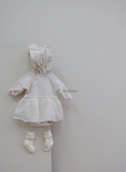 Soft Dream Tutu Romper, Ivory (6-12m, last one)