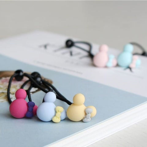 Matte Mickey Hair Bobble (Set of 5)