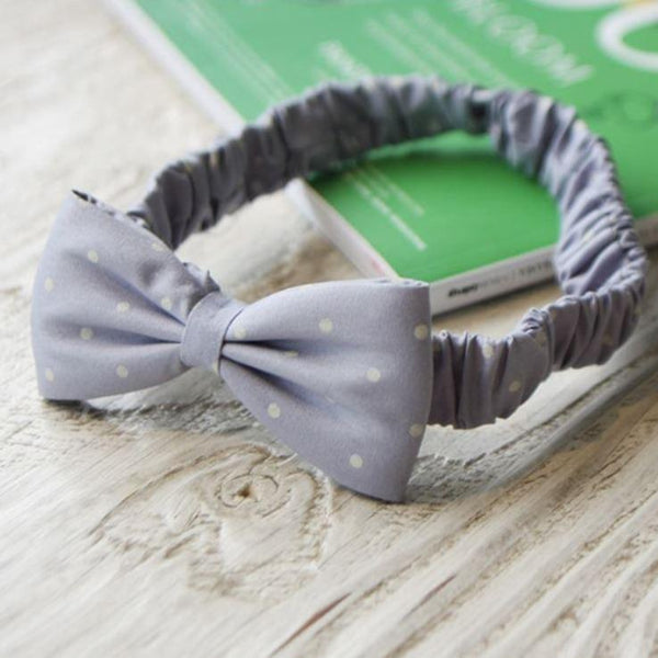 Dotted Bow Baby Headband