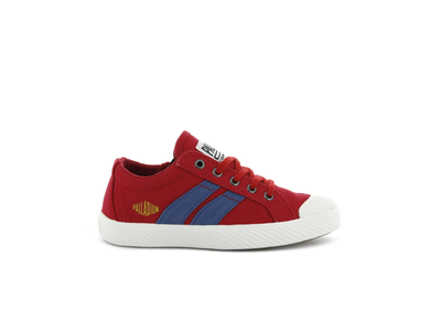 55722-626-M | PALLAFLAME LOW CANVAS | RED SALSA/STAR WHITE