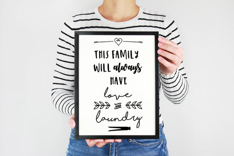 We'll always have love and laundry printable