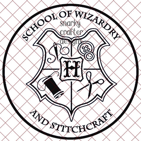 School of Wizardry and Stitchcraft Crest SVG/PNG/EPS/JPG File