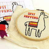 Spit Happens Llama Cross Stitch Pattern